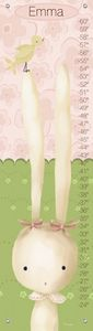 """Sweet Bunny"" - Canvas Growth Chart from Oopsy daisy, Fine Art for Kids"