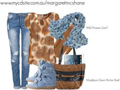 """Wild Flowers Scar & Maddison Demi Miche Shell"""" by mcshanes on Polyvore"""