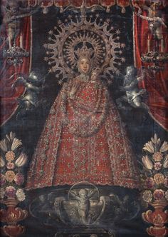 I Love My Mother, Blessed Mother Mary, Peruvian Art, Colonial Art, Byzantine Icons, Hail Mary, My Favorite Image, Religious Art, Virgin Mary