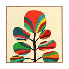 Budi Kwan Whimsical Colorful Tree Framed Wall Art | DENY Designs Home Accessories