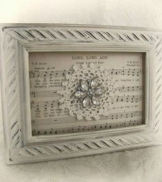 Shabby White Decor Altered Lace Art Vintage Rhinestone Collage Wall Art Cottage Chic Style Vintage Style Vintage Lace Framed Rhinestone - Diy Crafts for The Home Shabby Chic Crafts, Vintage Crafts, Shabby Chic Decor, Lace Decor, Doily Art, Lace Art, Doily Bunting, Old Jewelry, Jewelry Crafts