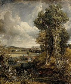 The Vale of Dedham by John Constable, with lots of cumulus clouds.