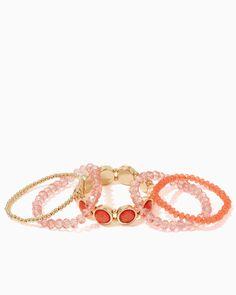 Bead & Brilliance Bracelet Set | UPC: 410007528078 Bold Blush, Coral, Light Pink, Gold, COTM