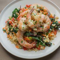 Healthy, simple meal ideas: Thai Lemongrass Basil Shrimp #shopmeals #relayfoods