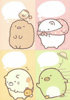 "San-X Sumikko Gurashi ""Outdoors"" Memo Kawaii Doodles, Cute Kawaii Drawings, Kawaii Art, Printable Scrapbook Paper, Printable Stickers, Cute Stickers, Dibujos Cute, Kawaii Wallpaper, Journal Stickers"