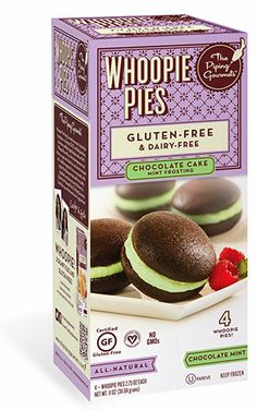 Chocolate cake with Mint frosting - Gluten Free Whoopie Pies. Vegan and Kosher!