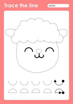 Sheep - tracing lines preschool workshee... | Premium Vector #Freepik #vector #animal #line #drawing #sheep Abc Games For Kids, Fun Worksheets For Kids, Animal Activities For Kids, Drawing Activities, Preschool Worksheets, Preschool Activities, Tracing Art, Tracing Lines, Drawing Lessons For Kids