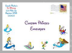 Alice in Wonderland Envelopes