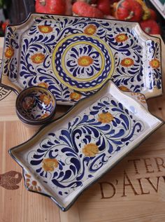 Hand made Sicilian Maiolica at Conti Tuscany Flavours.