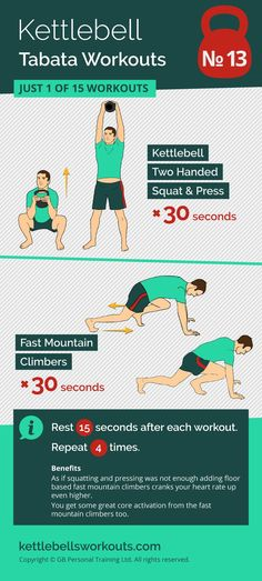 Super intense kettlebell and bodyweight tabata workout. Burn fat and improve your cardio in minutes. #kettlebell #kettlebellworkout #fitness #tabata