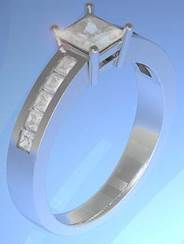This is set with a and smaller set into the band Princess Cut Diamonds, Designer Engagement Rings, Ring Designs, Band, Crystals, Jewelry, Sash, Bijoux, Ribbon