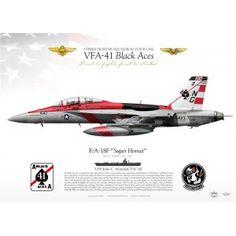 """F/A-18F VFA-41 """"Black Aces"""" CAG 2015 JP-1923"""