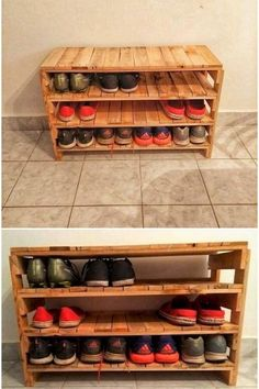 Pallet Desk with Shoe Rack Source by blancadf Pallet Desk, Wooden Pallet Projects, Diy Pallet Furniture, Wooden Pallets, Diy Projects, Wood Pallet Shelves, Muji Furniture, Pallet Benches, Pallet Cabinet