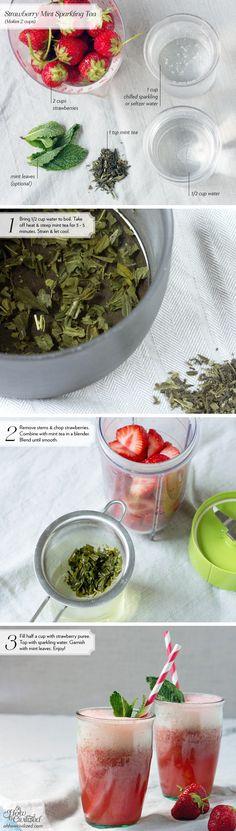 Strawberry Mint SparklingTea - Home - Oh, How Civilized