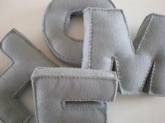 {hand-made felt letters}