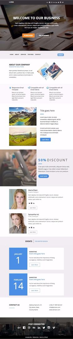 top 50 responsive newsletter templates for your campaign monitor