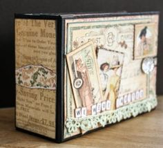 Mini Album by Karin Strandby for Scrapbook Adhesives by 3L for blog hop with #Graphic45. #LadiesDiary #mixedmedia