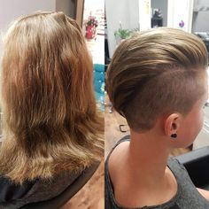 #before #after #shorthair #change #hair