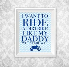 Dirtbike Nursery Print 11x14 Printable by KariDonellDesigns