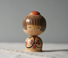 cute as a button...: vintage Japanese wooden doll ~ Modish Vintage