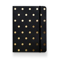 Black Polka Dot Notebook | Sugar Paper
