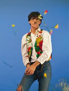 """Charly García in the photo production from his album """"How to Get Girls"""". Rock And Roll, The Rock, Glam Rock, Hard Rock, Rock Bands, Alberto Garcia, Rock Argentino, Flag Art, Iggy Pop"""