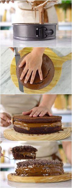Bolo de Chocolate e Café uma das combinações mais gostosas do universo! #bolodechocolateecafe #bolo #doce #doces #sobremesa #sobremesas
