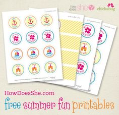 Free Beach Party Printables