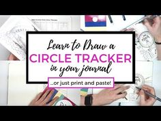 Learn how to set up a circle tracker in your bullet journal and see tons of my favorite circle trackers! Track how you spend 24 hours in a day & monthly habits with a free measurement printable & video how-to!