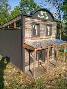 Fancy chicken coop!
