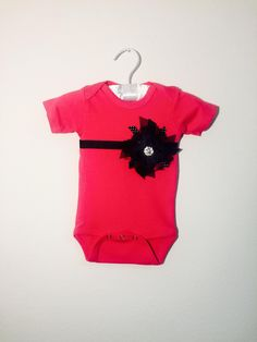 Persnickety+Baby+Hot+Pink/Black+Polka+Onesie