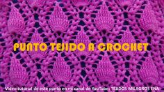 Punto Crochet # 18 Hojitas en relieve con Espigas para cobijas y colchit...
