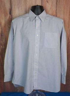 Gitman Bros Brothers Mens Long Sleeve Button Front Dress Shirt White Striped #4 #GITMANBROS