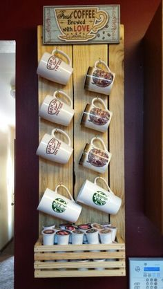 When it comes to coffee, quality matters. To get the most out of your coffee-drinking experience,. Coffee Cup Rack, Coffee Mug Holder, Coffee Cups, Coffee Nook, Coffee Station Kitchen, Home Coffee Stations, Beverage Stations, Decorating Coffee Tables, Coffee Table Design