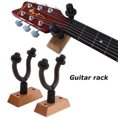 Hudson Guitar Company Deluxe Wooden Guitar Wall Hanger HX-10 x TWO