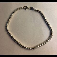 "Diamond cut bead bracelet Sterling silver DC Bead Bracelet 7"" including a CZ Star Charm Jewelry Bracelets"