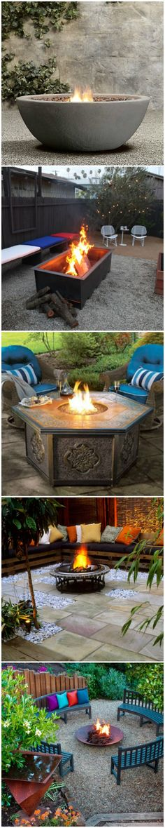 27 Fire Pit Ideas To Keep You Warm Outside This Winter --> http://www.hgtvgardens.com/decorating/15-cool-fire-pit-ideas?soc=pinterest