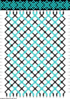 Gorgeous teal Celtic interlace on dark...