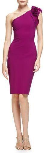 La Petite Robe di Chiara Boni Enrica One-Shoulder Sheath Dress, Vinaccia https://api.shopstyle.com/action/apiVisitRetailer?id=531864740&pid=uid2500-37484350-28