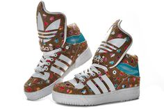 Adidas Obyo Shoes Brown White