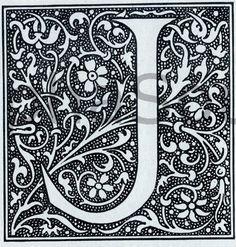 """lovely floral """"J"""""""