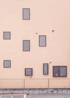 Windows in Akasaka, Tokyo Minimal Photography, Street Photography, White Aesthetic, Aesthetic Wallpapers, Wallpaper Backgrounds, Minimalism, Facade, Windows, World