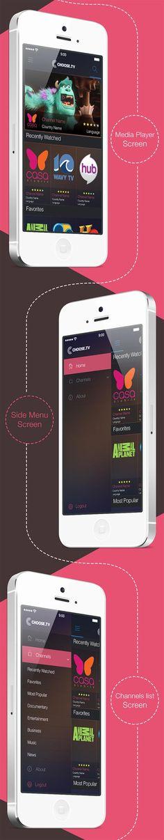 Unique App Design, Choose TV via @legoless #App #Design #UIUX