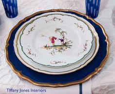 The Love of Entertaining:  PLACE SETTING INFORMATION Salad Plate: Raynaud, Si Kiang Dinner Plate: Raynaud Marie Antoinette Charger: Este Ce