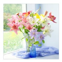 Lily Photo Card  A Bouquet of Lilies Photograph Fine by JudyStalus, $5.00