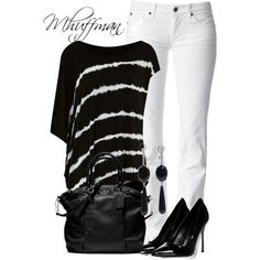 Black and white {I would do regular jeans, white pants are just not my thing, but I love everything else}