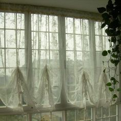 French-Country-Lace-Austrian-Balloon-Shade-Sheer-Voile-Cafe-Kitchen-Curtain-J