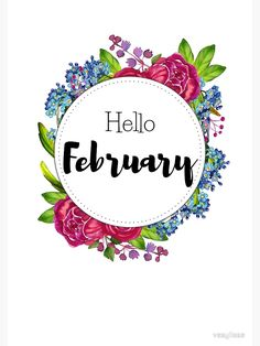 'Hello February – monthly cover for planners, bullet journals ' Metal Print by vasylissa – Jennifer Space Bullet Journal Frames, Bullet Journal Titles, February Bullet Journal, Bullet Journal Inspiration, Bullet Journals, Art And Craft Images, February Month, Hello June, Thanksgiving Wallpaper