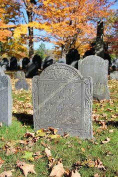 A Concord, Massachusetts graveyard in the fall.