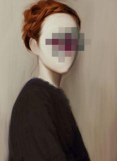 Illustration by Barbara Baldi Glitch Art, Glitch Kunst, Kreative Portraits, Photocollage, Identity Art, Foto Art, Art Plastique, Oeuvre D'art, Pixel Art